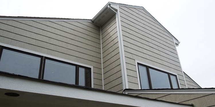 Family house before after LP SmartSide wood siding replacement