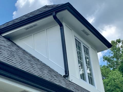 House with new gutters after gutter installation project in Hinsdale