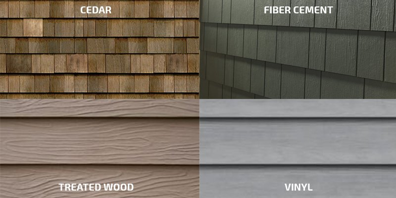 Siding siding installation replacement repair contractors for Types of house siding materials
