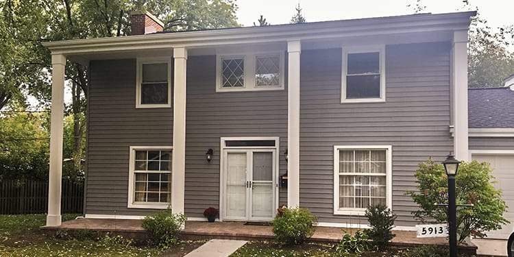 House before after vinyl siding installation services