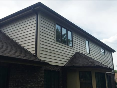 Cedar lap siding installation and cleaning