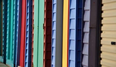 Coloured siding boards