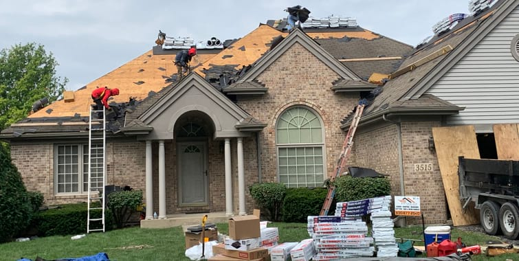 small hail damage repair project