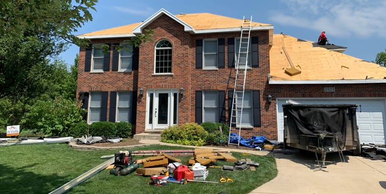 vinyl siding roofing replacement after hail damage naperville
