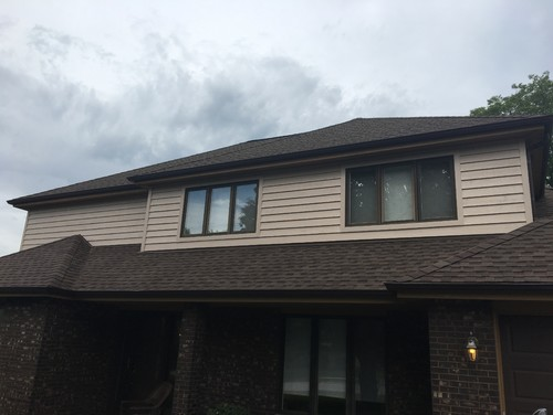 House with new exterior after siding installation in Wheaton