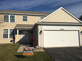 Vinyl siding house after siding installation in Naperville