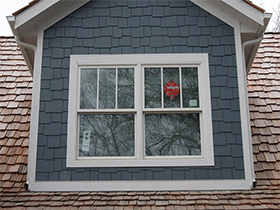 House with new windows after siding installation project in Naperville