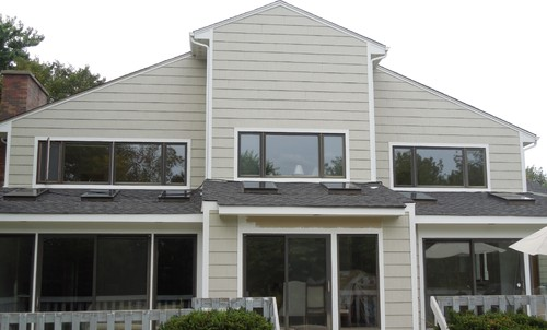 Residential house with the new exterior after siding installation in Arlington Heights