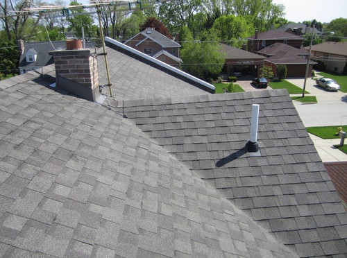 House after roofing installation in Arlington Heights