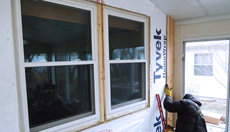 Cedar siding installation project photo in Rolling Meadows