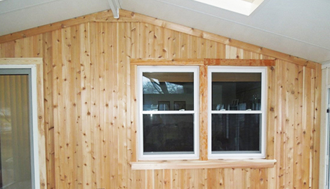 Cedar siding ireplacement project photo in Rolling Meadows