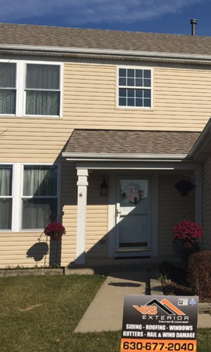 Beautiful exterior renovation after hail damage project photo in Gurnee