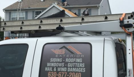 Hail damage repair in Gurnee project photo 2