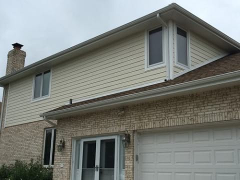 James Hardie siding installation and shingle roof replacement in Orland Park project photo 5