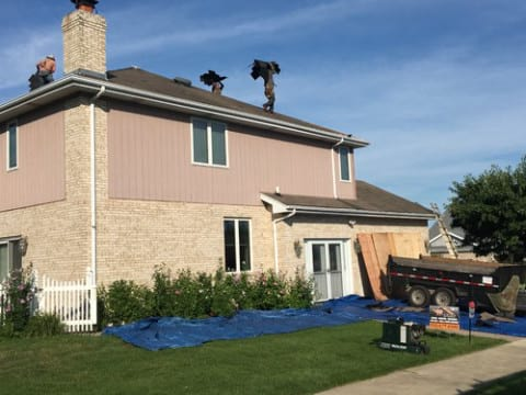 James Hardie siding installation and shingle roof replacement in Orland Park project photo 7