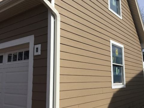 LP Diamond Kote siding installation and gutters replacement in Naperville project photo 11