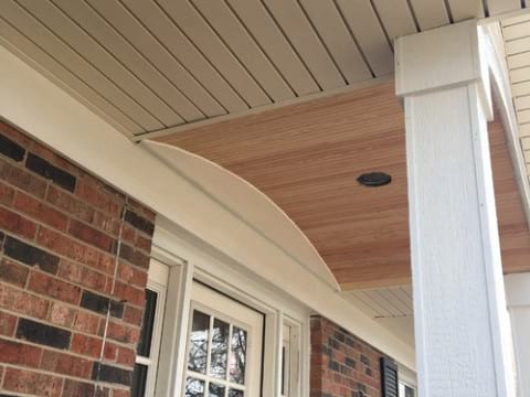 LP Diamond Kote siding installation and gutters replacement in Naperville project photo 13