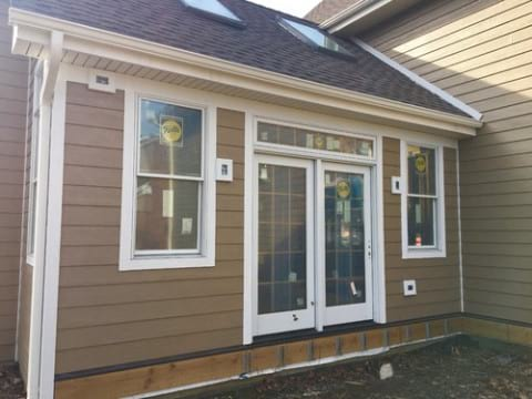 LP Diamond Kote siding installation and gutters replacement in Naperville project photo 15
