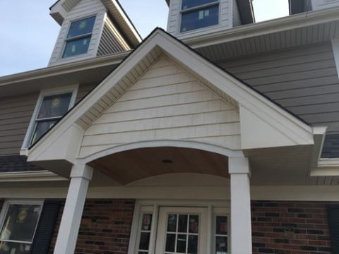 LP Diamond Kote siding installation and gutters replacement in Naperville project photo 2