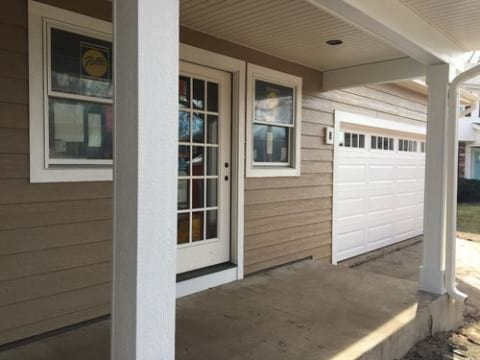 LP Diamond Kote siding installation and gutters replacement in Naperville project photo 3