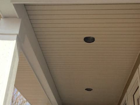 LP Diamond Kote siding installation and gutters replacement in Naperville project photo 5