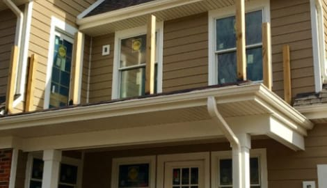 LP Diamond Kote siding installation and gutters replacement in Naperville project photo 6