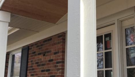 LP Diamond Kote siding installation and gutters replacement in Naperville project photo 7