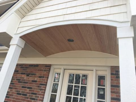 LP Diamond Kote siding installation and gutters replacement in Naperville project photo 8