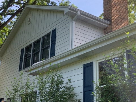 LP Diamond Kote siding installation and shingle roof replacement in Indian Head Park project photo