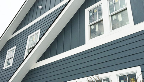 Lp smartside wood siding guttering project in glen ellyn il for Lp smartside prefinished siding reviews