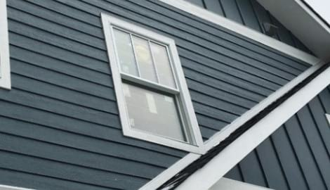 LP SmartSide wood siding Installation and gutters replacement in Glen Ellyn project photo 2