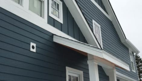 LP SmartSide wood siding Installation and gutters replacement in Glen Ellyn project photo 7
