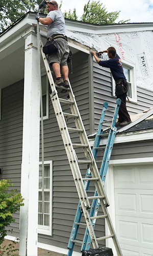 Lp Smartside Wood Siding Amp Guttering Project Downers Grove Il