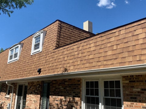 Shingle roof replacement after hail damage in Darien project photo