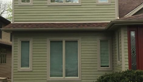 LP SmartSide siding and gutters replacement in Downers Grove project photo 2