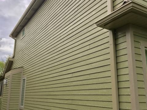 LP SmartSide siding and gutters replacement in Downers Grove project photo 3