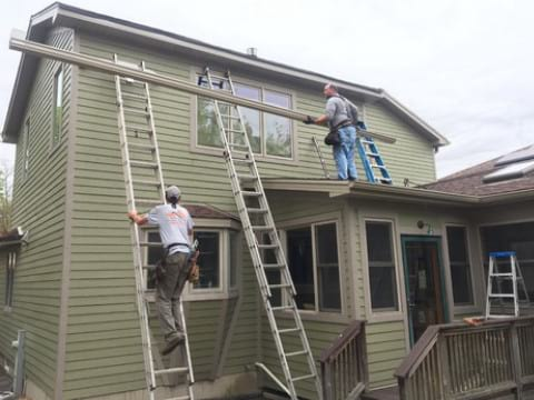 LP SmartSide siding and gutters replacement in Downers Grove project photo 8