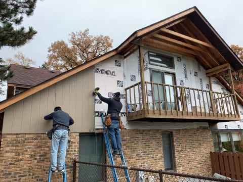 LP SmartSide siding replacement in Oak Brook project photo 7