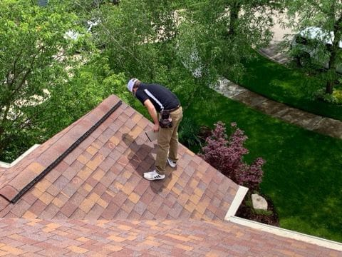Shingle roofing replacement after hail damage in Naperville project photo 2
