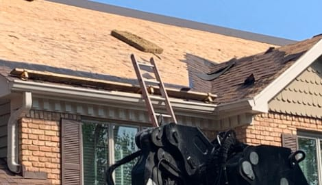 Shingle roofing replacement after hail damage in Naperville project photo 4