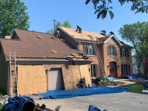 Shingle roofing replacement after hail damage in Naperville project photo 5