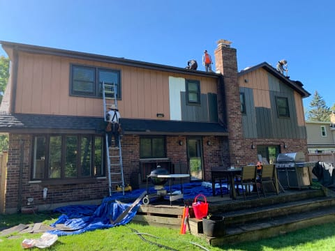 LP SmartSide siding replacement in Oak Brook project photo 10