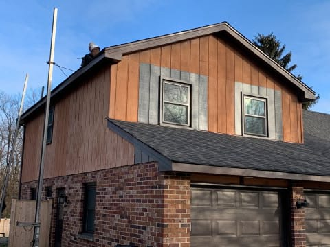 LP SmartSide siding replacement in Oak Brook project photo 11