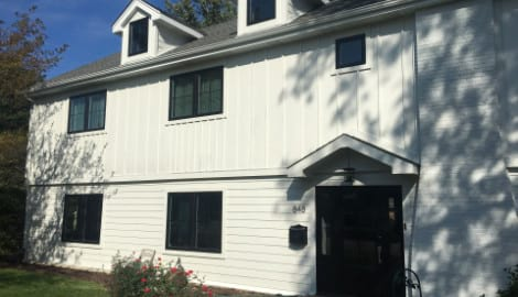LP SmartSide siding and windows replacement in Hinsdale project photo 1