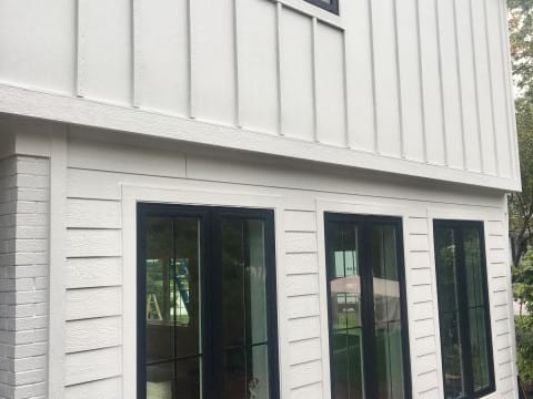 LP SmartSide siding and windows replacement in Hinsdale project photo 2