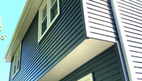 Full exterior remodeling vinyl siding installation shingle roof replacement in Naperville before after project photo 6
