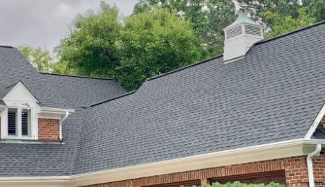 Asphalt shingle roofing and gutters replacement in Oak Brook project photo 2