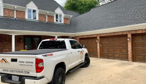 Asphalt shingle roofing and gutters replacement in Oak Brook project photo 3