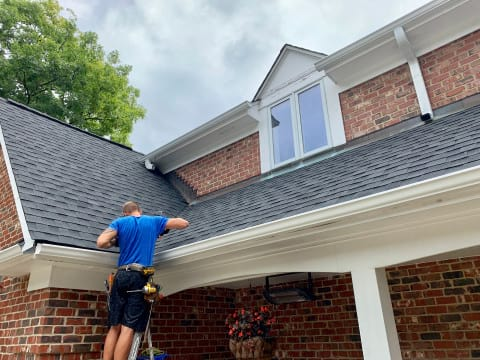 Asphalt shingle roofing and gutters replacement in Oak Brook project photo 4