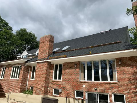 Asphalt shingle roofing and gutters replacement in Oak Brook project photo 5